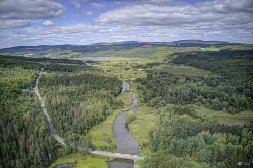 Rivière Au Pin -Pont À Chevilles Irlande QC - En aval Étang Stater #2