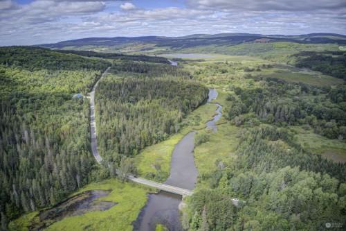 Rivière Au Pin -Pont À Chevilles Irlande QC - En aval Étang Stater #3