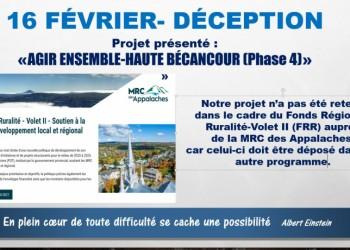 Déception : disparition du Fonds pour soutenir les cours d'eau