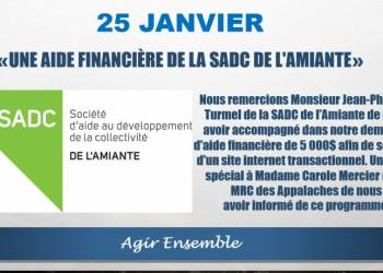 L'APLTI reçoit une aide de la SADC de l'Amiante